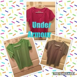 Semi-fitted v-neck T's